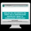 Assegnazioni agevolate: il documento del CNEDC