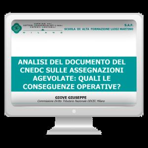 Assegnazioni agevolate: il documento del CNDCEC