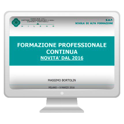 Formazione professionale continua: novità dal 2016