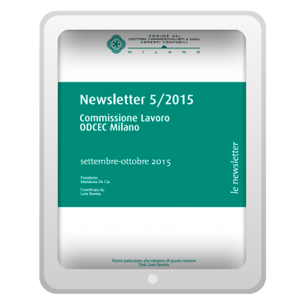 Newsletter 5/2015 - Commissione Lavoro