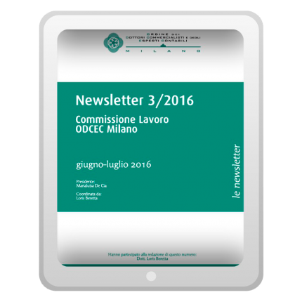 Newsletter 3/2016 - Commissione Lavoro
