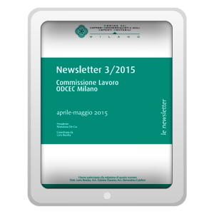 Newsletter 3/2015 - Commissione Lavoro