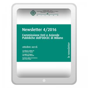 Newsletter 4/2016 - Commissione Enti e Aziende pubbliche