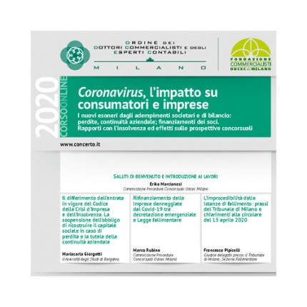 Coronavirus: l'impatto su consumatori e imprese
