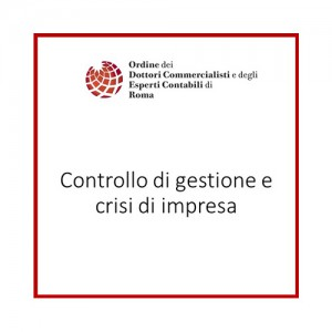 Controllo di gestione e crisi di impresa